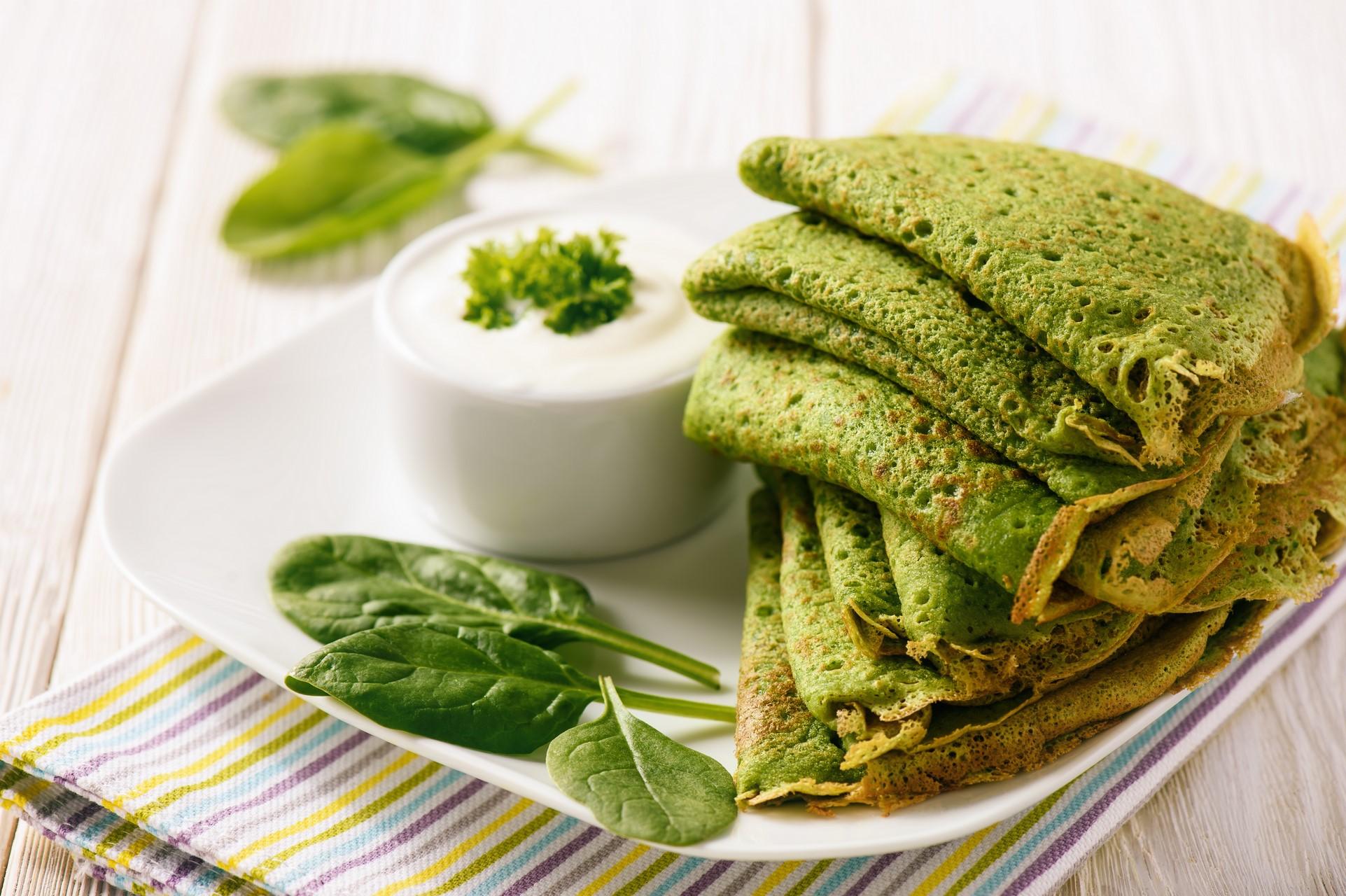 zielone naleśniki z szynką (Kopiowanie)